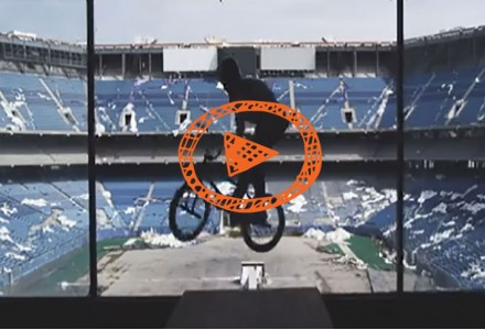 BMX Pro Tears Up the Abandoned Silverdome