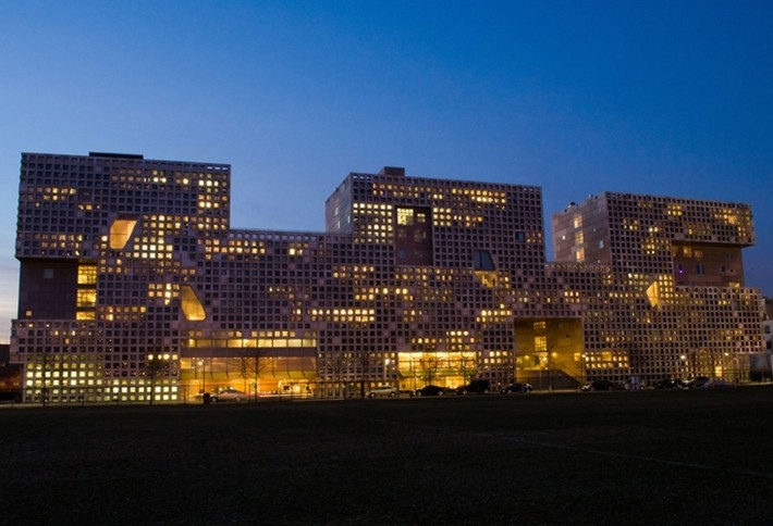 Simmons Hall at Massachusetts Institute of Technology (M.I.T.) – Cambridge, MA