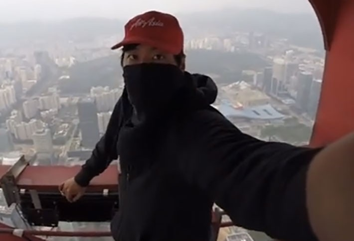 Video of the Day: Climber Evades Security, Tops 2K-Foot Tall Chinese Tower